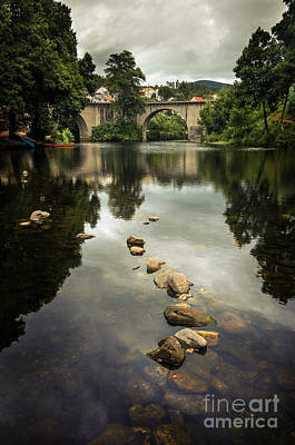 River Landscape Art Print by Carlos Caetano
