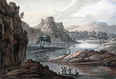 Painting - River Landscape With A Castle by Robert Adam