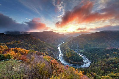 Photograph - River Meander At Sunrise by Evgeni Dinev
