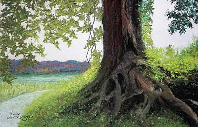 Pastel - River Mistress by Gary Edward Jennings