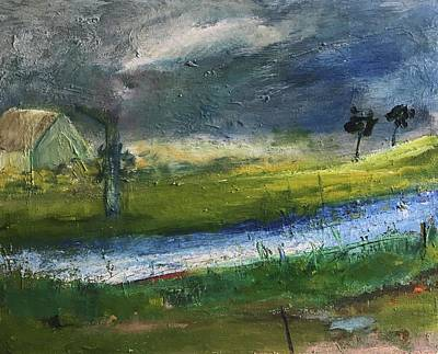 Painting - River Owenea, Donegal Ireland by Mary Feeney