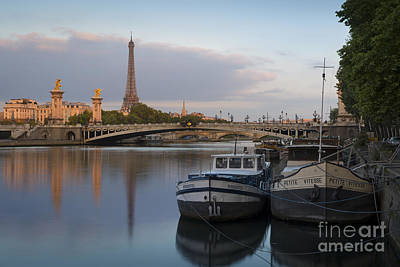 Photograph - River Seine Dawn by Brian Jannsen