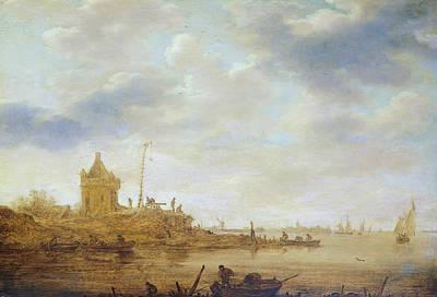 River View With Guard Art Print by Jan van Goyen