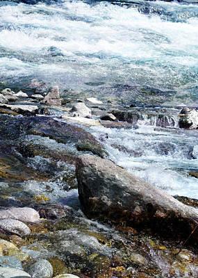 Sun Rays Digital Art - Riverscape by Filippo B