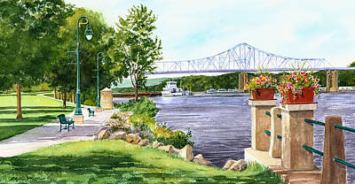 Painting - Riverside Park by Phyllis Martino