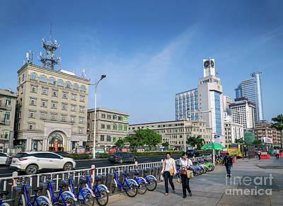 Photograph - Riverside Promenade Street In Central Xiamen City China by Jacek Malipan
