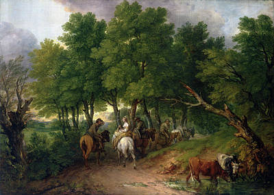 Trail Painting - Road From Market by Thomas Gainsborough