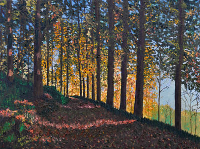 Painting - Road In Woods by Stan Hamilton