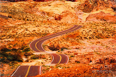 Photograph - Road Through Valley Of Fire by Les Palenik
