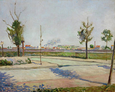 Streetscape Painting - Road To Gennevilliers by Paul Signac