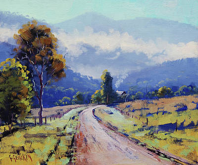 Paintings - Road to the farm by Graham Gercken
