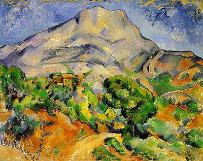 Mount Painting - Road To The Montagne Sainte-victoire by Paul Cezanne