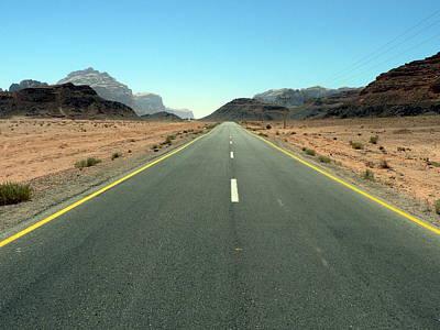 Road To Wadi Art Print by James Lukashenko