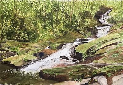 Painting - Roaring Fork Falls -- June 2017 by Joel Deutsch