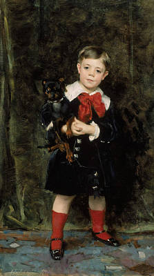 Boy Portrait Painting - Robert De Cevrieux  by John Singer Sargent