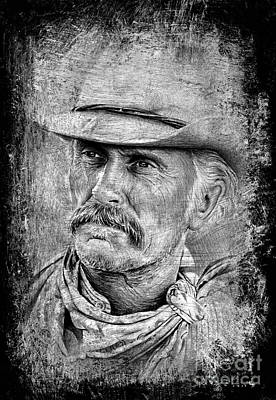 Robert Duvall The Western Collection Art Print by Andrew Read