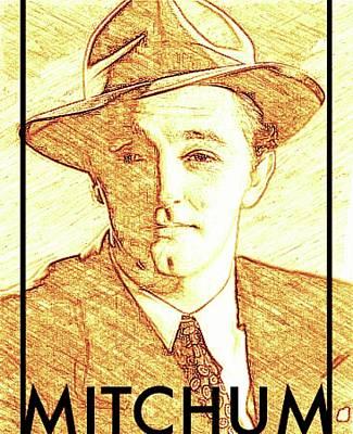Singer Digital Art - Robert Mitchum by John Springfield