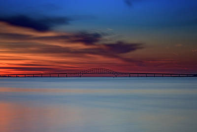 Trussed Photograph - Robert Moses Causeway by Rick Berk