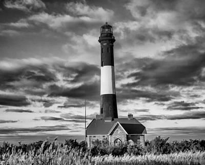Beach Photograph - Robert Moses Lighthouse by Linda Pulvermacher