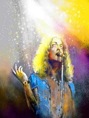Music Paintings - Robert Plant 02 by Miki De Goodaboom