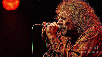 Led Zeppelin Mixed Media - Robert Plant Led Zeppelin by Marvin Blaine