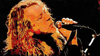 Robert Plant Digital Art - Robert Plant by Galeria Zullian  Trompiz