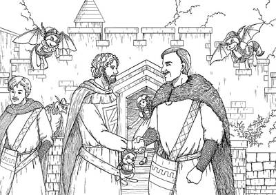 Robin Hood And The Captain Of The Guard Original by Reynold Jay