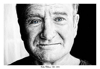 Icon Drawing - Robin Williams by Andrew Read