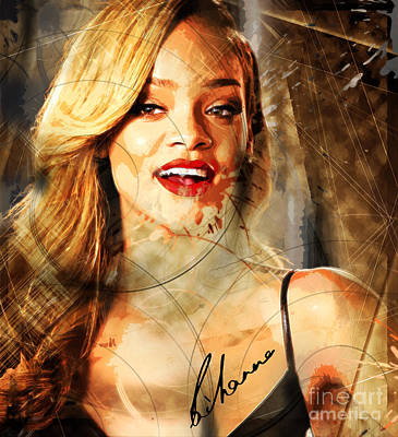 Robyn Rihanna Fenty - Rihanna Art Print by Sir Josef - Social Critic -  Maha Art
