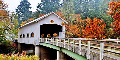 Photograph - Rochester Covered Bridge by Ansel Price