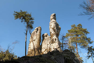 Photograph - Rock Formations In The Bohemian Paradise Geopark by Michal Boubin