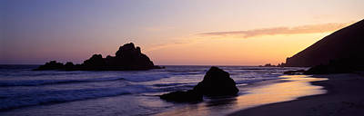 Pfeiffer Beach Photograph - Rock Formations On The Beach, Pfeiffer by Panoramic Images