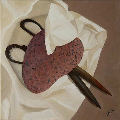 Painting - Rock, Paper, Scissors by Garry McMichael