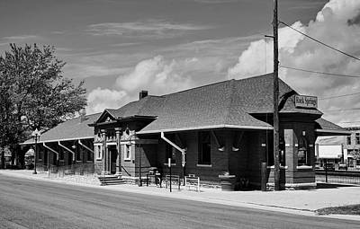 Photograph - Rock Springs Train Station - Wyoming by L O C