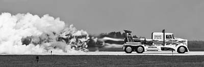 Rocket Truck Art Print