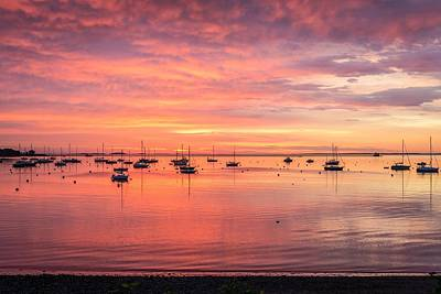Penobscot Bay Photograph - Rockland Harbor Sunrise by Tim Sullivan