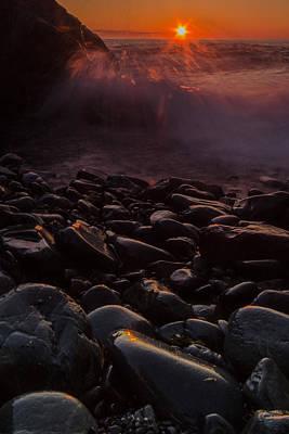Sunrise Waves Art Print by William Sanger