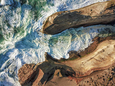 Photograph - Rocks And Waves by Brian Bonham