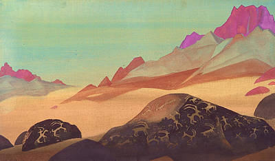 Traquil Painting - Rocks Of Ladakh by Nicholas Roerich