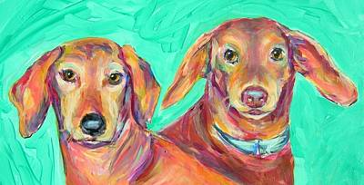 Painting - Rocky And Hershey by Judy Rogan