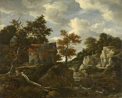 Countryside Painting - Rocky Landscape by Jacob van Ruisdael