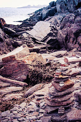 Photograph - Rocky Maine Coastline  by Debra Forand