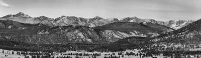Photograph - Rocky Mountain National Park Panorama Black White by James BO  Insogna