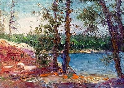 Painting - Rocky Point Cove At Bass Lake by Shannon Grissom