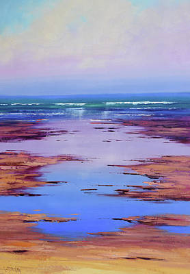 Paintings - Rocky shoreline by Graham Gercken