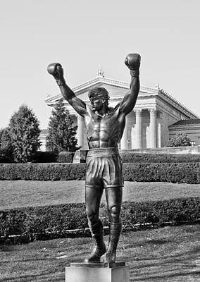 Movies Photograph - Rocky Statue - Philadelphia by Brendan Reals