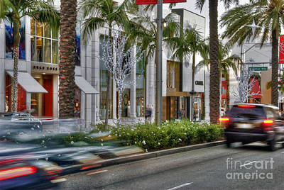 Photograph - Rodeo Drive Beverly Hills by David Zanzinger