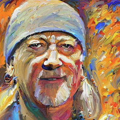 Digital Art - Roger Glover Deep Purple Portrait 2 by Yury Malkov