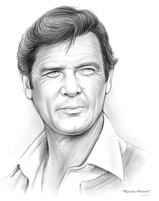 Drawings Rights Managed Images - Roger Moore Royalty-Free Image by Greg Joens