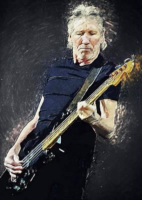 Digital Art - Roger Waters by Taylan Apukovska